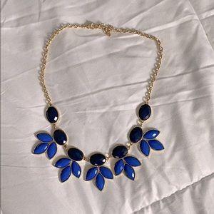 Francesca's Costume Necklace w/ Blue/Black Detail